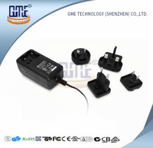 China Wall Mount AC DC Power Adapter 12v 2a With Interchangeable Plugs PSE UL GS Approved on sale