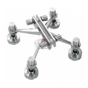 China Spider Fittings, 4-Way Arm, Finish: Polish / Satin, Size: C/C: 200mm (U-SF200-4) on sale