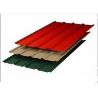 China Colour Coated Steel Roofing Sheets / Powder Coated Roofing Sheets For Building Material on sale