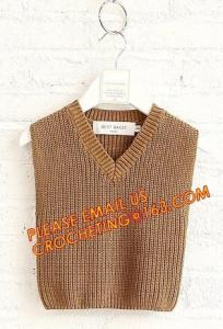 China Superior quality wholesale v neck sweater boys casual kid vest, Fashionable cozy wholesale v neck sweater boys casual ki on sale