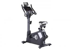 China Commercial Gym Stationary Upright Exercise Bike Black Magnetic Resistance on sale