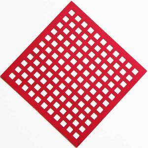 China Painting Stainless Steel Square Hole Perforated Sheet For Sunshades on sale