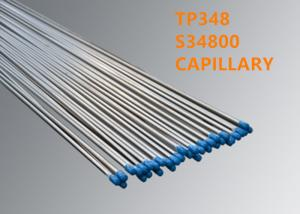 China Optical Fiber Accessories TP348 / S34800 Welded Or Seamless Capillary on sale