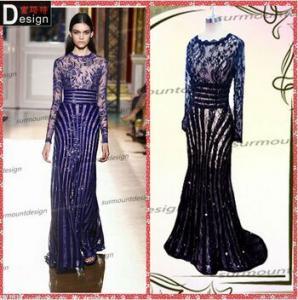 China 2014015 Surmount Design Real Sample Beautiful Lace Long Sleeve Zuhair Murad Dresses 2015 on sale