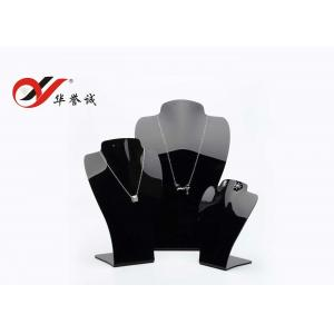 China Acrylic Jewelry Display Props In Black Neck Stand For Necklace Show on sale