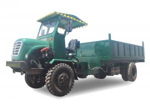 China Articulated Chassis Four Wheel Drive Dump Truck / Small Tipper Truck 50HP Air Brake on sale