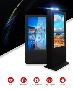 China 65 Inch Outdoor LCD Digital Signage Advertising Display For Bus Stop Advertising on sale