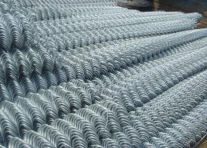 China 10 Guage Galvanized Diamond Chain Link Fence Dark Green Backyard Pvc Coated Iron Wire on sale