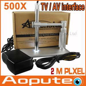 China 2014 New Hot AV / TV Interface Digital Microscope 500X Gold genus elevator access TV Plug & Play on sale