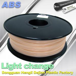 China ABS Light Change Color Changing Filament Stable In Performance on sale