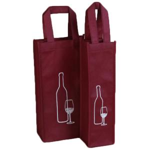 China Single Bottle Non Woven Reusable Wine Bottle Bags For Shopping / Packing on sale
