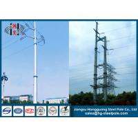 Galvanised Steel Tapered Power Transmission Poles for Overhead Power Line