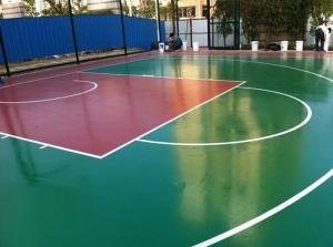 China Badminton Court Rubber Sports Flooring With Hard Top Environmental Friendly on sale