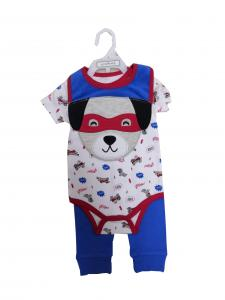 China Comfortable Short Baby Clothes Gift Set With Embroidery Animal 3D Bib on sale