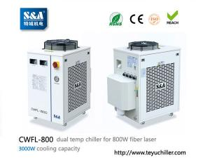 China S&A laser chiller CWFL-800 for cooling 800W fiber laser cutting machine on sale