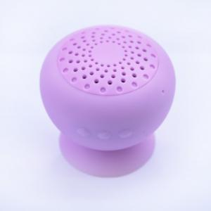China Silicone Mushroom Waterproof Wireless Bluetooth Speakers Battery With Sucker on sale