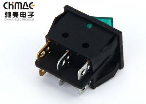 China KCD3 - 201 Double Poles KCD Rocker Switch Durable 6 Pins With Neon Bulb 15A on sale