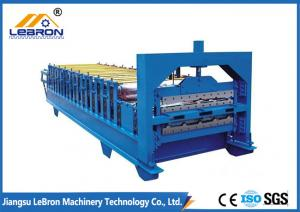 China High Efficiency Double Layer Roll Forming Machine , IBR Sheet Roll Forming Machine on sale