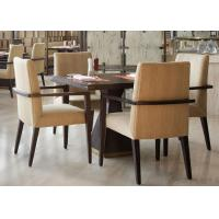 5 Star Hotel Modern Wooden Dining Room Tables , High End Restaurant Furniture