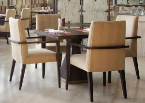 5 Star Hotel Modern Wooden Dining Room Tables , High End Restaurant  Furniture