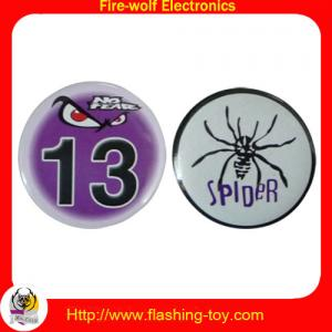 China Mini Customized tin / metal / plastic color led brand, logo Flashing Badges (ribbon) on sale