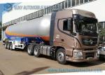 12 Wheels 56KL LPG Semi Trailer , 3 Axles LPG Transport Truck 1.61MPa Pressure