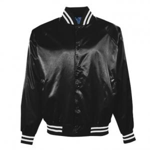 China 100% Polyester Mens Varsity Bomber Jacket , Custom Satin Baseball Jackets on sale