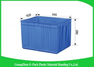 China Rectangle Folding  Plastic Storage Trays Long Service Life 545 * 420 * 380mm on sale