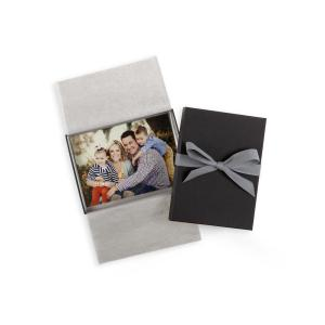 China Lid And Base Cardboard Gift Boxes Photo Album Bow Ribbon Fancy Paper on sale