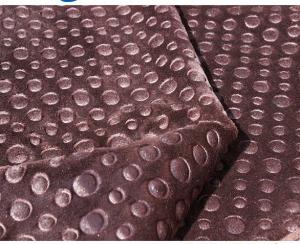 China Knitted Polyester Fleece Fabric For Curtain / Hometextile Embossed Fleece Fabric on sale
