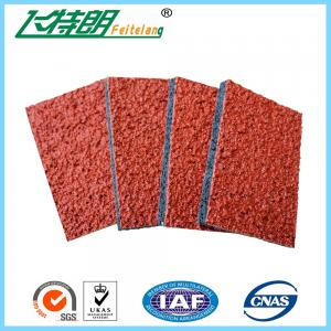 China Spray Coat System Athletic Rubber Track Flooring Synthetic Run Track Mat on sale