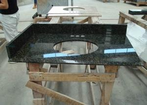 China Dark Green Uba Tuba Granite Countertops , Polished Granite Stone Countertops on sale