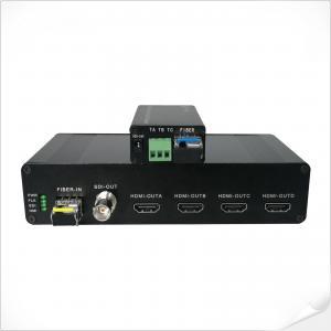 China 1-Ch SDI to 4-Ch HDMI 3G-SDI Loop Out SDI to Fiber Optic Converter on sale