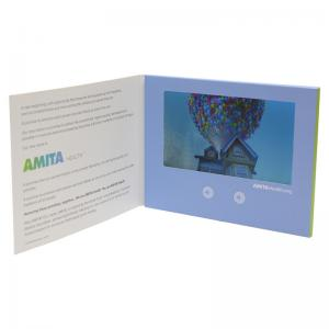 China Rechargeable Digital Video Brochure , 2W 8O Paper LCD Video Card on sale
