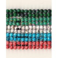 China Custom Magnetic Therapy Jewelry Marbleized Beads Rare Earth Magnet Composite on sale