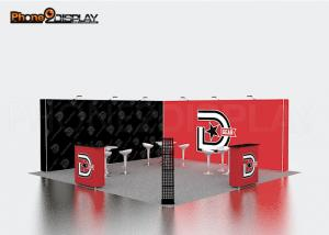 China Durable Backlit Trade Show Booth Set Up 10x10 With Aluminum Alloy Frame on sale