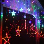 China Multicolor Star Moon 0.06w Ip44 Icicle Led String Light Decoration For Weddings wholesale