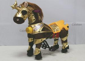 China Kids Outdoor Rocking Horse Playground Rides Machine Animal Toy with Sound on sale