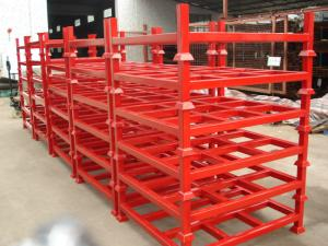 China Customised Adjustable Stacking Shipping Stack Rack With Steel Plate on sale