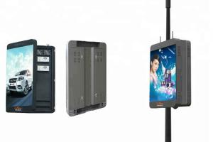 China P6 Street Light Pole LED Display For Cluster Synchronous Advertisement on sale