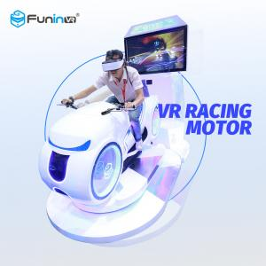China Car Driving 9D Virtual Reality Simulator 700KW White Color Multiplayer For Game Zone on sale