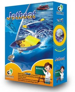 China For Children Jet Boat DIY Educational Toys Educational Assembling  on sale