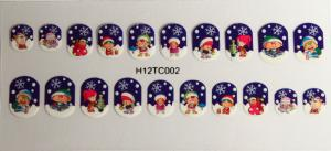 China Christmas pattern Finger Nail Sticker , Safe and non toxic stickers on sale