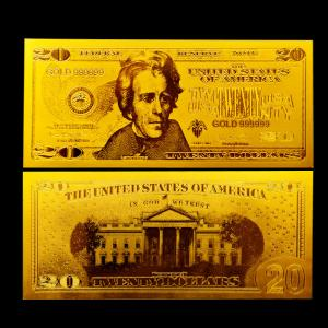 2 sided Gold plated us dollar banknotes $20 bills with SGS
