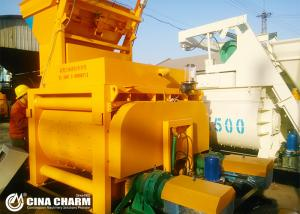 China JS1000 electric 1 cubic concrete mixer twin shaft concrete mixer og 1000L  lowes cement mixer for stone on sale