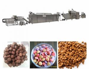 Automatic Pet Food Extruder Machine , Stainless Steel Dog Food