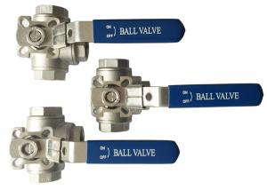 """China 1/2"""" to 2 Stainless Steel 304 316 flow Control T and L Type  3  way diverter ball valve on sale"""