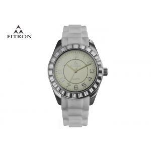 China Japan Movement Multi Purpose Watch , Trendy Womens White Wrist Watches on sale