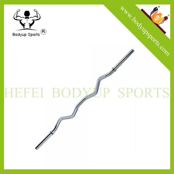 """We R Sports Super Curl Bar Weight Lifting With Spring Collars EZ 1/"""" Barbell"""