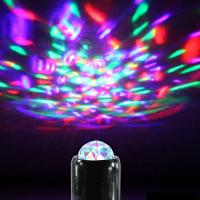 China 2016 DISCO Mini Portable Wireless Bluetooth Speaker  LED Light Ball Party Stage Light Support LINT-IN Bluetooth hands- on sale